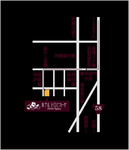 浦添方面からのイラスト地図